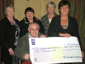 Cheque presentation to Oliver Murphy